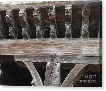 Medieval Market Place  Canvas Print by France  Art