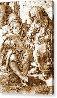 Medieval Musicians 1524 Canvas Print by Padre Art