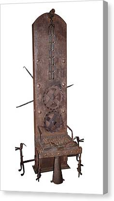Medieval Rotating Torture Chair Canvas Print