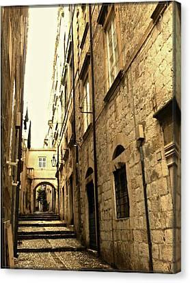 Medieval Street Canvas Print