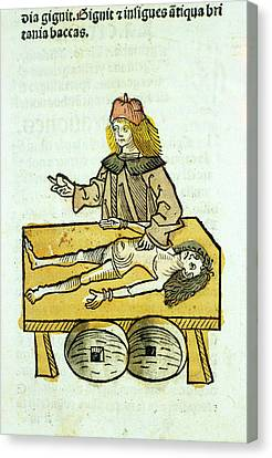 Medieval Surgery Canvas Print by National Library Of Medicine