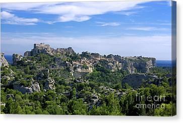 Medieval Village Of Les Baux De-provence. Alpilles. France Canvas Print by Bernard Jaubert