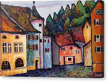 Medieval Village Of St. Ursanne Switzerland Canvas Print