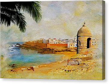 Medina Of Tetouan Canvas Print by Catf
