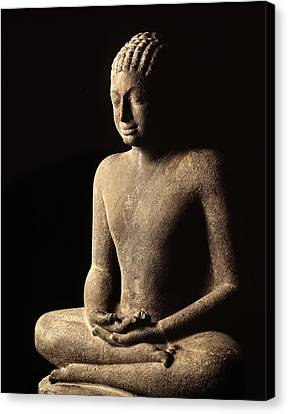 Meditating Buddha, Davaravati Period Canvas Print by Thai School