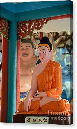 Meditating Buddha In Lotus Position Canvas Print by Imran Ahmed
