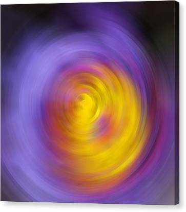 Meditation - Abstract Energy Art By Sharon Cummings Canvas Print by Sharon Cummings