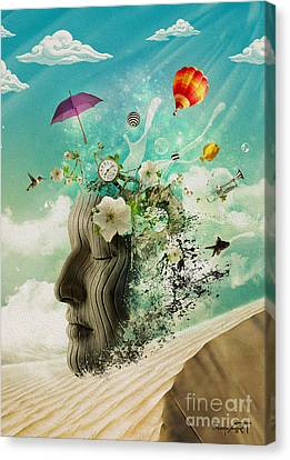 Meditation Canvas Print by Donika Nikova