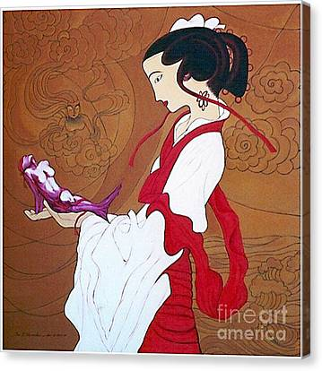 Meditation Canvas Print by Fei A