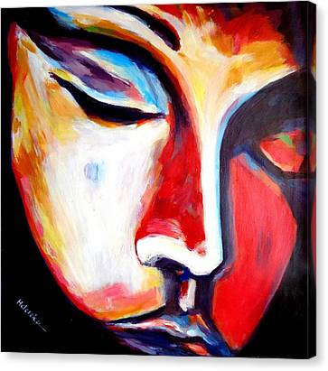 Canvas Print featuring the painting Meditation by Helena Wierzbicki