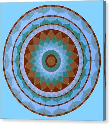 Meditation Mandala Canvas Print by Vlatka Kelc