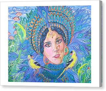 Canvas Print featuring the painting Meditation by Suzanne Silvir