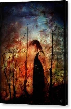 Bare Trees Canvas Print - Meditative Walk by Gun Legler