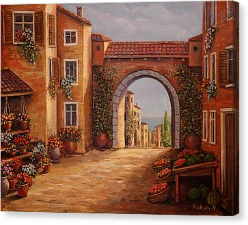 Mediterranean Bazaar Canvas Print