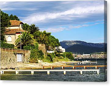 Mediterranean Coast Of French Riviera Canvas Print by Elena Elisseeva