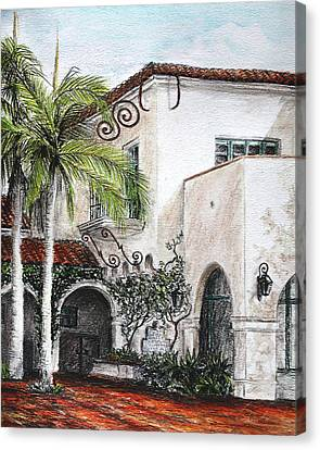 Mediterranean Courtyard  Canvas Print
