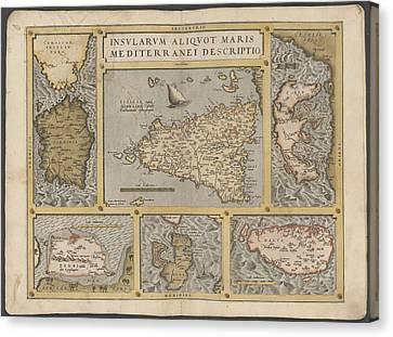 Mediterranean Islands Canvas Print by British Library