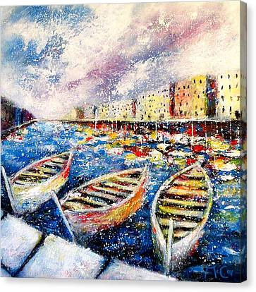 Mediterranean Port Colours Canvas Print