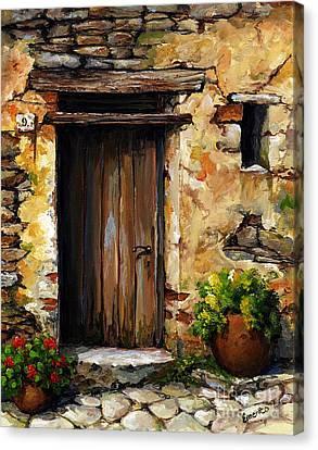 Mediterranean Portal Canvas Print by Emerico Imre Toth
