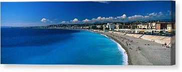 Mediterranean Sea French Riviera Nice Canvas Print by Panoramic Images