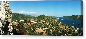 Mediterranean Sea Viewed Canvas Print by Panoramic Images