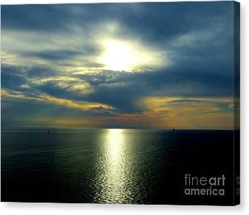 Mediterranean Sunset Canvas Print by Tim Townsend
