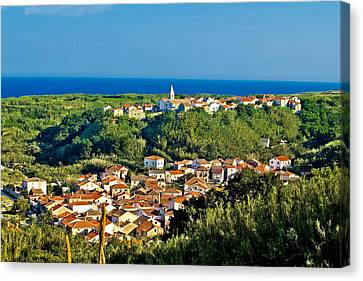 Mediterranean Town Of Susak Croatia Canvas Print by Brch Photography