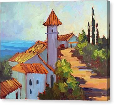 Mediterranean Village Costa Del Sol Canvas Print