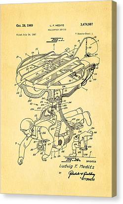 Meditz Helicopter Device Patent Art 1969 Canvas Print by Ian Monk