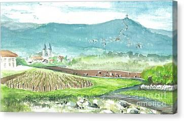 Medjugorje Fields Canvas Print by Christina Verdgeline