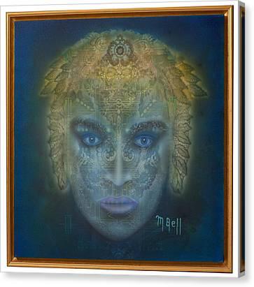 Medusa - Framed Canvas Print by Mark Bell