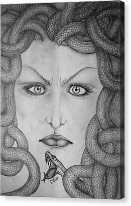 Medusa Canvas Print by  Silvia Mariottini