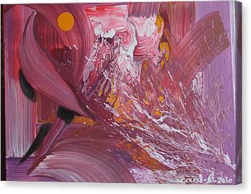 Medusas Bath Canvas Print by Gani Banacia