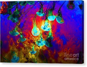 Medusas On Fire 5d24939 Canvas Print by Wingsdomain Art and Photography