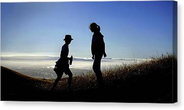 Meet At The Top Of The World Canvas Print