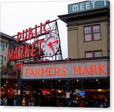 Meet Me In Seattle Canvas Print