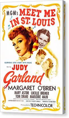 Meet Me In St. Louis, Judy Garland Canvas Print