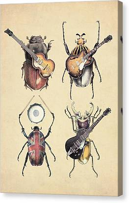 Beetle Canvas Print - Meet The Beetles by Eric Fan