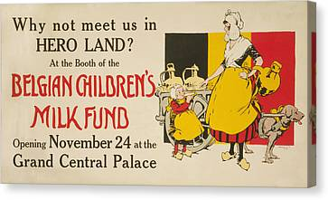 Meet Us In Hero Land Poster Canvas Print by Underwood Archives