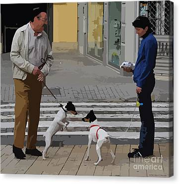 Meeting For The First Time - Seville Canvas Print