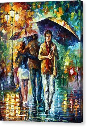 Meeting My Ex Canvas Print by Leonid Afremov