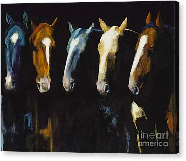 Meeting Of The Minds Canvas Print by Frances Marino