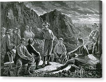 Meeting Of The Molly Maguires, 1874 Canvas Print by Photo Researchers