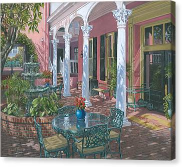 Meeting Street Inn Charleston Canvas Print by Richard Harpum