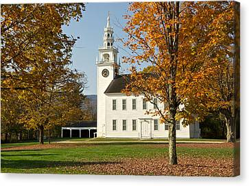Meetinghouse  Jaffrey Nh Canvas Print by Gail Maloney
