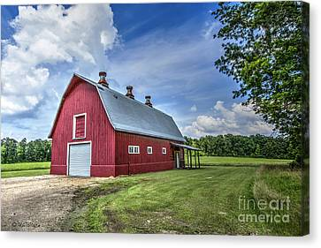 Megan's Barn Canvas Print by D Wallace