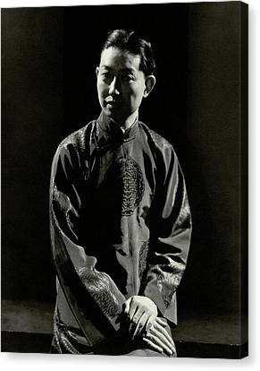 Chinese Ethnicity Canvas Print - Mei Lanfang Wearing A Chinese Jacket by Edward Steichen