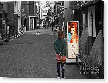 Canvas Print featuring the photograph Meiko Dreams by Cassandra Buckley