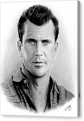 Mel Gibson Bw Canvas Print by Andrew Read