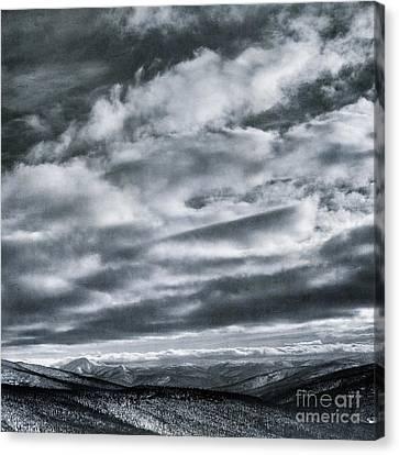 Melancholia Mountains And Even More Mountains Canvas Print by Priska Wettstein